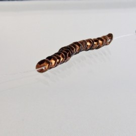 Cuvette 4 mm bronze brillant sur fil