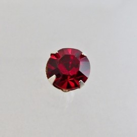 Strass à coudre 10 mm siam ruby