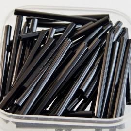 Tube facetté 30 mm noir brillant