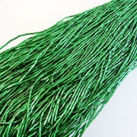 Tube 4 mm vert prairie facetté sur fil