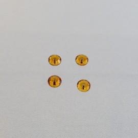 Eclat percé cristal topaze 5 mm