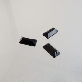 Pierre à coudre 6 x 12 mm facettée noire
