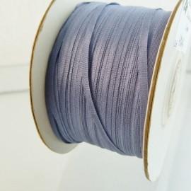 Ruban soie 2 mm bleu turquin