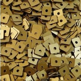 Paillette carrée 3 mm vieil or mat