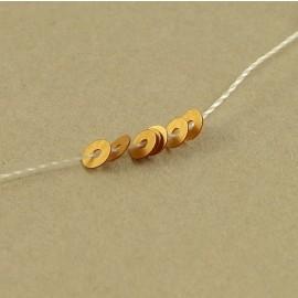 Paillette 3 mm or cuivré mat sur fil