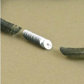 Paillette 5 mm argent brillant sur fil