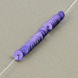 Paillette 4 mm mate bruyère sur fil