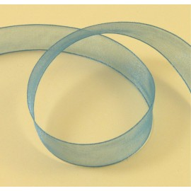 Organza bleu 15 mm