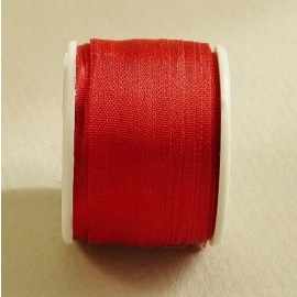 Ruban soie 13 mm rouge