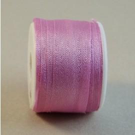 Ruban soie 13 mm rose bonbon