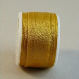Ruban soie 13 mm coloris or