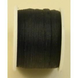 Ruban soie 2 mm noir