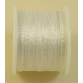Ruban soie 2 mm blanc