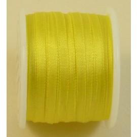 Ruban soie 4 mm jaune canari