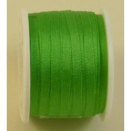 Ruban soie 2 mm vert vif