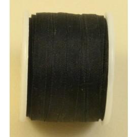 Ruban soie 4 mm noir