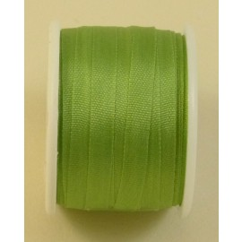 Ruban soie 4 mm vert amande