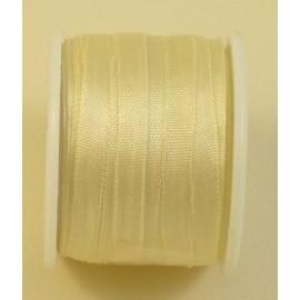 Ruban soie 4 mm ivoire