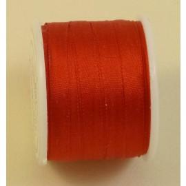Ruban soie 4 mm rouge
