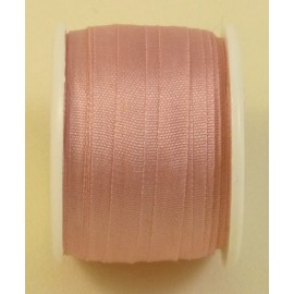 Ruban soie 4 mm bouton de rose