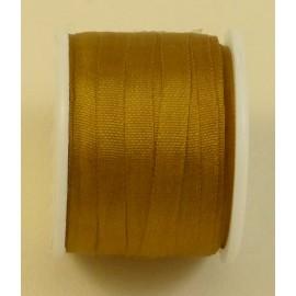 Ruban soie 4 mm bronze