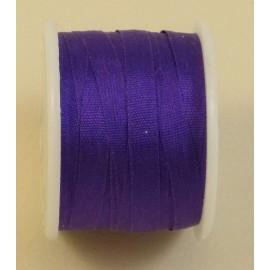 Ruban soie 4 mm violet indigo