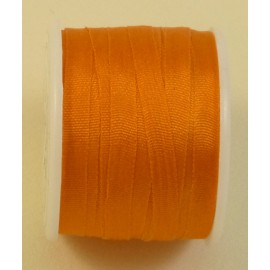 Ruban soie 4 mm orange