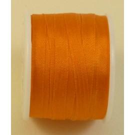 Ruban soie 4 mm orange