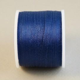 Ruban soie 4 mm bleu marine