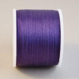 Ruban soie 4 mm violet foncé