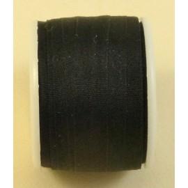 Ruban soie 7 mm noir