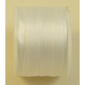 Ruban soie 7 mm blanc