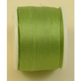 Ruban soie 7 mm vert amande