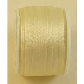 Ruban soie 7 mm ivoire