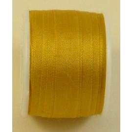 Ruban soie 7 mm or