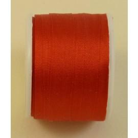 Ruban soie 7 mm rouge