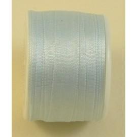 Ruban soie 7 mm bleu layette