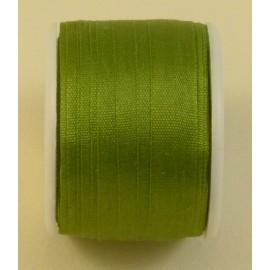Ruban soie 7 mm olivine