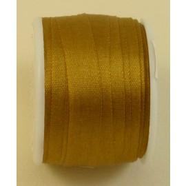 Ruban soie 7 mm bronze