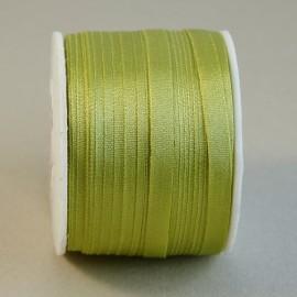 Ruban soie 4 mm vert chartreuse