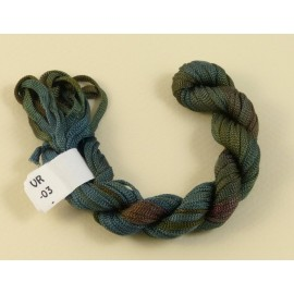 Ruban viscose du bleu gris au brun