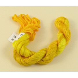 Ruban viscose jaune d'or changeant