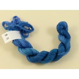 Ruban viscose bleu changeant