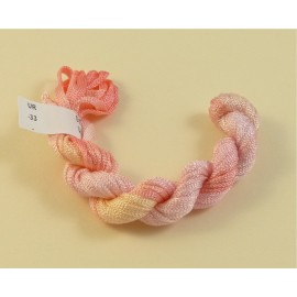 Ruban viscose rose pâle changeant