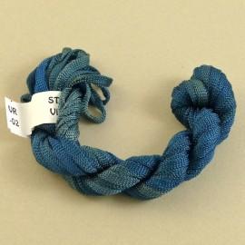 Ruban viscose bleu cobalt changeant