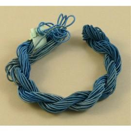 ganse rayonne bleu gris à cobalt changeant