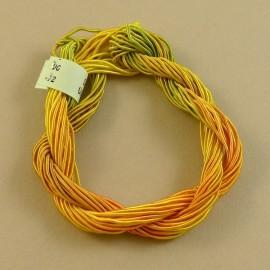 ganse rayonne jaune, orange et vert