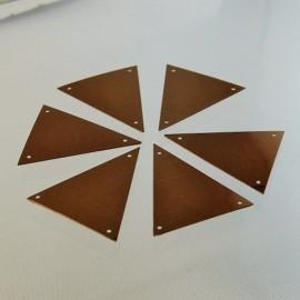 Sequin triangle 36 mm bronze