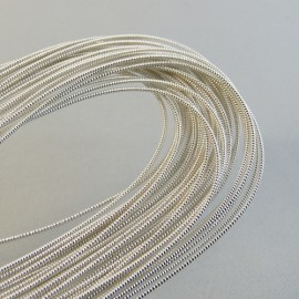 Silver plated purl 1 mm