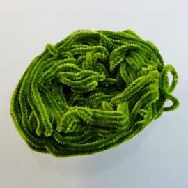 Silk chenille olive green Au Ver à Soie